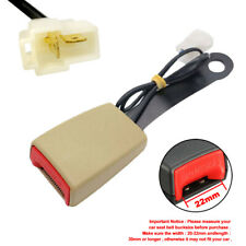 Auto Seat Belt Lock 22mm Camlock Car Front Seat Belt Buckle With Warning Cable Us Fits Toyota