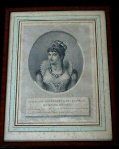 josephine-imperatrice-gravure-terminee-par-duthe-engraving-napoleon-empire-XIX