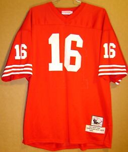 best value bf37a 58382 Details about SAN FRANCISCO 49ERS JOE MONTANA Red #16 MITCHELL & NESS  THROWBACK NFL JERSEY