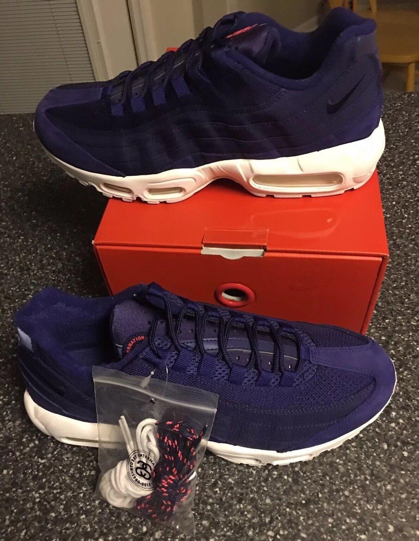 Nike air max 95 stussy blau - rot rot rot - weißen 834668-441 größe 11 treu 33dfa7