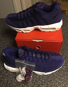 5693d53688 Nike Air Max 95 Stussy Loyal Blue Red White 834668-441 Size 11