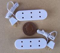 1:12 Scale 2 X Triple Extension Socket Strips Dolls House Miniature Lighting