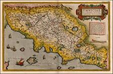 ORTELIUS VINTAGE VECCHI ANTICHI COLORE COLORE TOSCANA ITALIA ITALIA Riproduzione Mappa