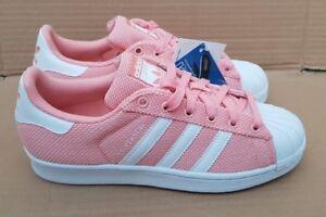 Rose 5 Adidas Superstar Taille Nouveau 5 Textile Pêche Baskets Superbe Rare En Bnwt Uk vIUS5qnTxI