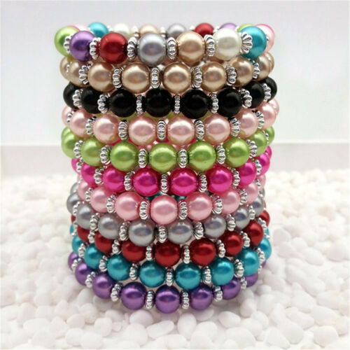 DIY Wholesale Fashion Jewelry 8mm Red water Pearl Beads Stretch  Bracelet