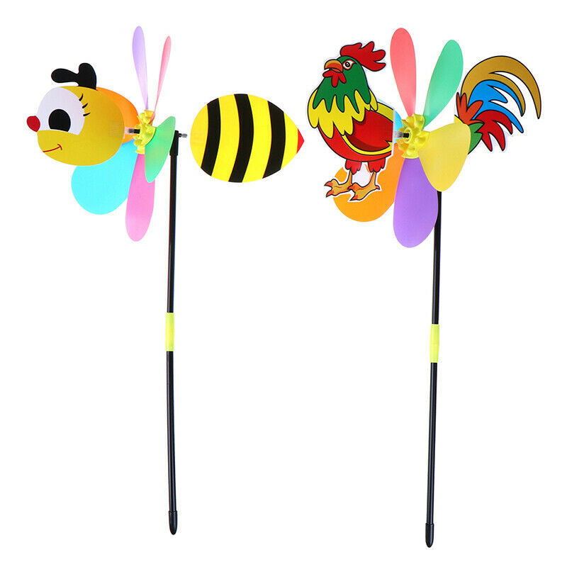 Colorful Cartoon Animal Windmill Wind Spinner Home Garden Yard Outdoor De IO&j0