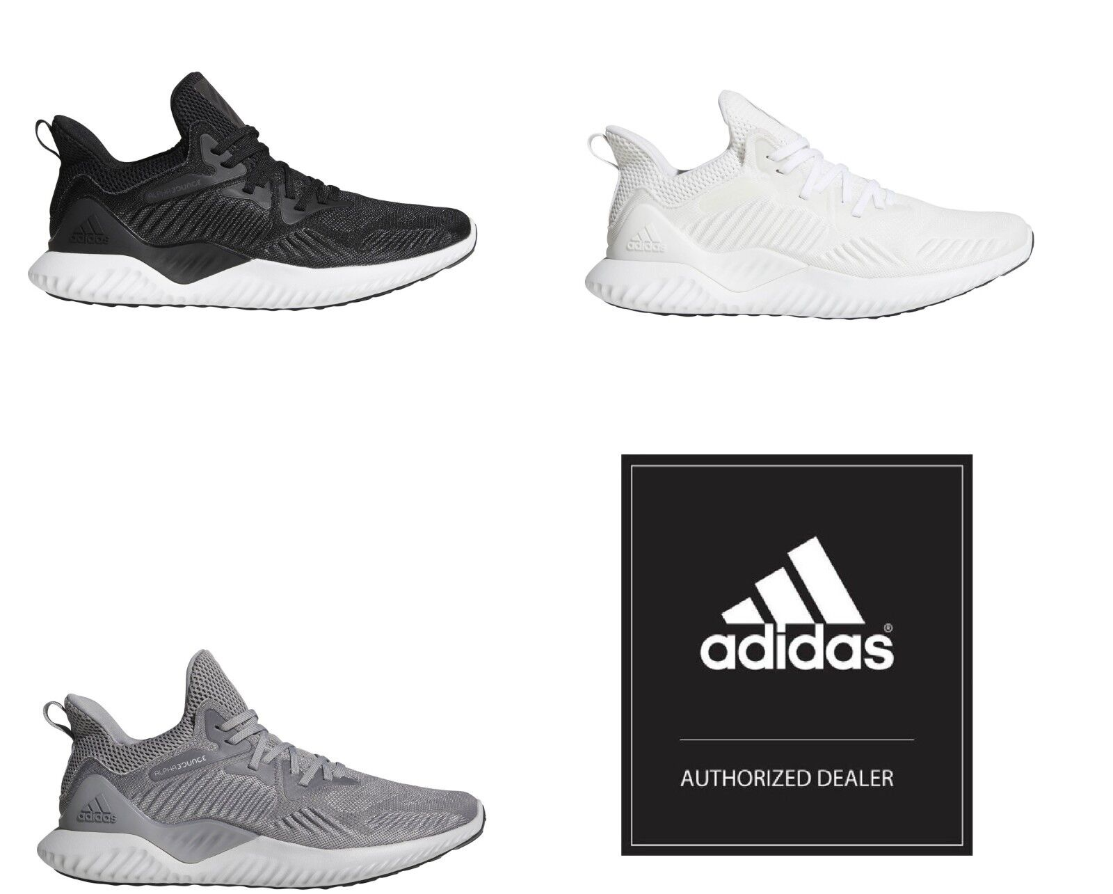 Adidas Men's Alphabounce Beyond Running Training Boost shoes Sneakers