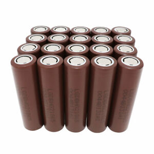 20pcs-Battery-18650-3000mAh-INR-High-Drain-3-7V-Li-ion-HG2-Rechargeable