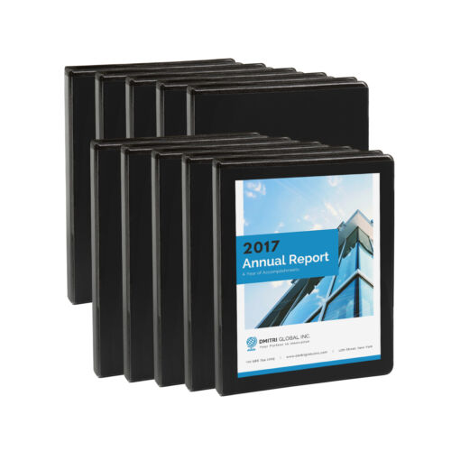 Black Bl10 Pack of 1//2 inch 3-Ring Economy Binders