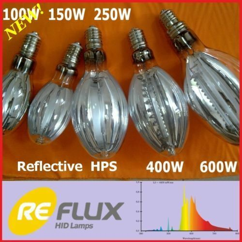Reflective HPS Grow Lamp 600W 400W 250W 150W 100W DNaZ//ReFlux NEW