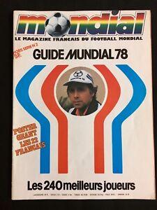 MAGAZINE-MONDIAL-GUIDE-MUNDIAL-78-LES-240-MEILLEURS-JOUEURS-ARGENTINA-1978