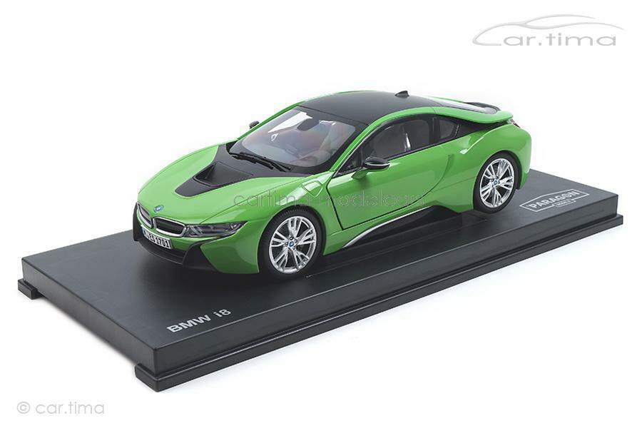 BMW i8-Java Green-Paragon 1:18 - pa-97086