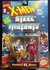 MARVEL~X-MEN STEEL MUTANTS PROFESSOR X vs MAGNETO  DIE CAST FIGURES 1994 TOY BIZ
