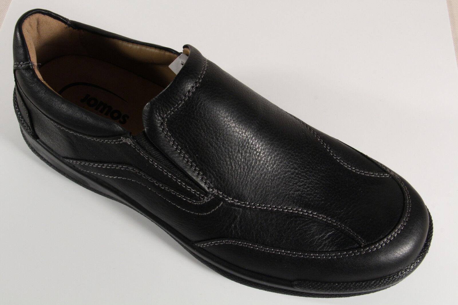 Jomos Slipper Halbschuhe Sneakers schwarz Leder für lose Einlagen geeignet  NEU