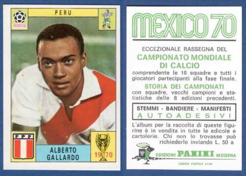 PERU/' GALLARDO FIGURINA CALCIATORI PANINI MEXICO 70