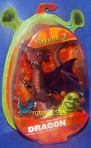 Shrek 2 Dragon avec ailes de Flappin et bébé scellé en 2004