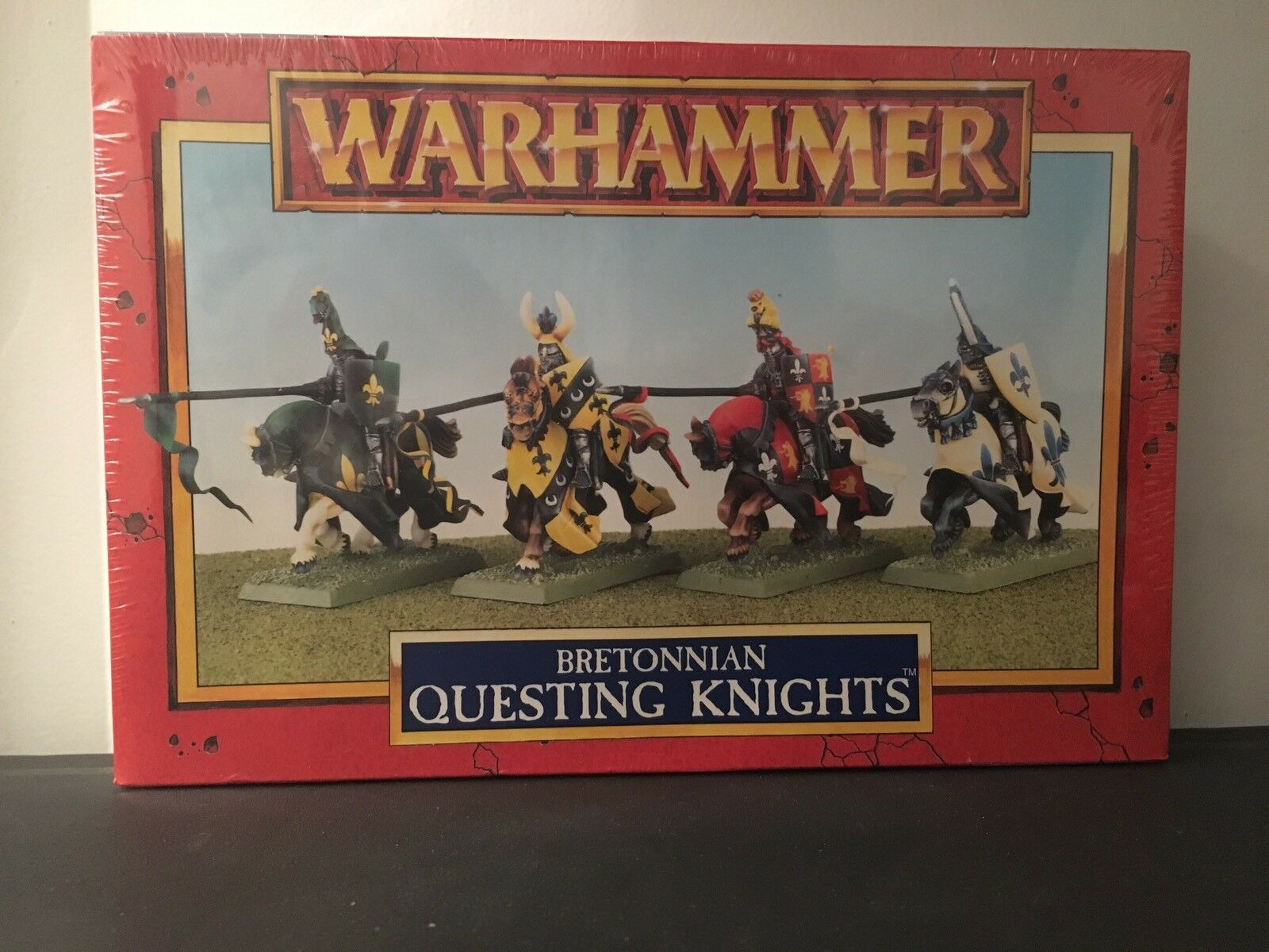Bretonnia Sealed Box Of Questing Knight Metal Fifth Edition OOP
