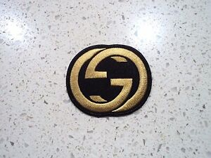 Image is loading New-Gold-Gucci-Logo-Patch-Embroidered-Cloth-Patches-