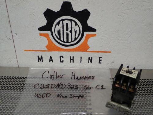 Cutler-Hammer C25DND325 Ser C1 25A Contactor W// 9-2741-2 Coil 208-240V 50//06Hz