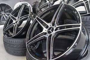 19-Zoll-Axxion-AX7-Felgen-5x112-et45-schwarz-fuer-Mercedes-W204-W205-W212-W213