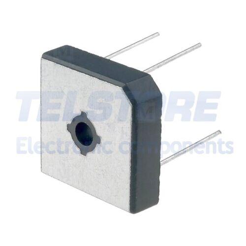 1pcs GBPC5006W Ponte raddrizzatore 600V 50A MBR-25W reoforo Ø1,0mm DC COMPONENTS