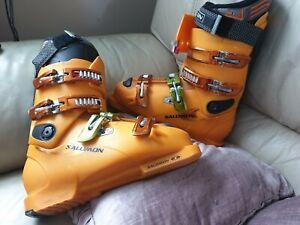 2019 Neupreis zur Freigabe auswählen riesiges Inventar Details about Salomon X Wave 9.0 SKIING flex 100 carbolink ski boots size  306 mm