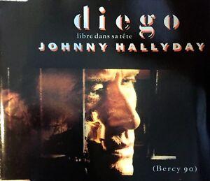 CD-MAXI-JOHNNY-HALLYDAY-DIEGO-LIBRE-DANS-SA-TETE-BERCY-90-RARE-COMME-NEUF-1991