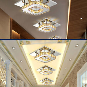Cuadro-Cristal-LED-Iluminacion-de-techo-Lamparas-Faroles-Pasillo-Colgante-Arana