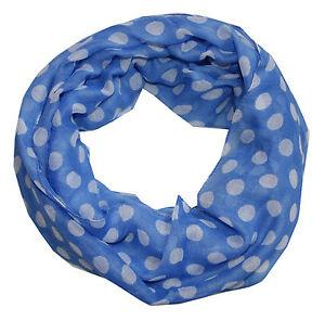46503c3d31f299 Das Bild wird geladen Punkte-Damen-Loopschal-blau-weiss-Loop-Schal