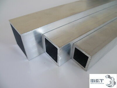 Aluminium Vierkantrohr (6060) 80x40x3 mm - Länge frei wählbar