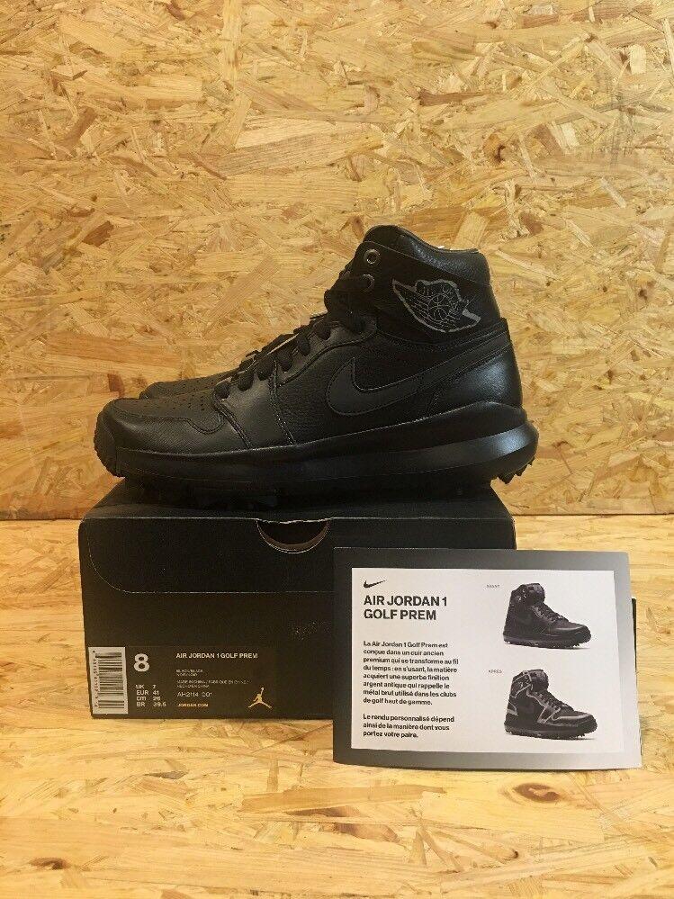 Nike 2018 Air Jordan 1 Negro ah2114-001 2018 Nike Golf Premium SZ 8 b60f27