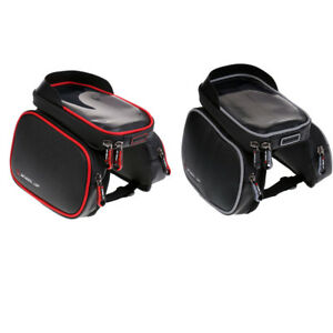 """6.2/"""" Touch Screen Waterproof Cycling Bike Bicycle Front Frame Holder Bag Pouch"""