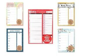 A4 Office Design Desk Weekly Planner /& Shopping List Pad Tear off Sheets New
