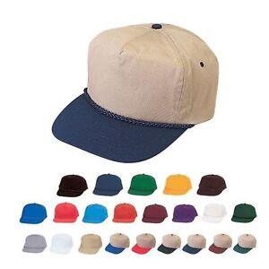 b9d1c28f9 Details about 1 Dozen Blank Two Tone 5 Panel Cotton Twill Braid Baseball  Hats Caps Wholesale