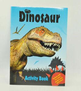 Blue Kids Dinosaur Colouring Activity Book Fun Books Childrens Games Dino Art 9780857264664 Ebay