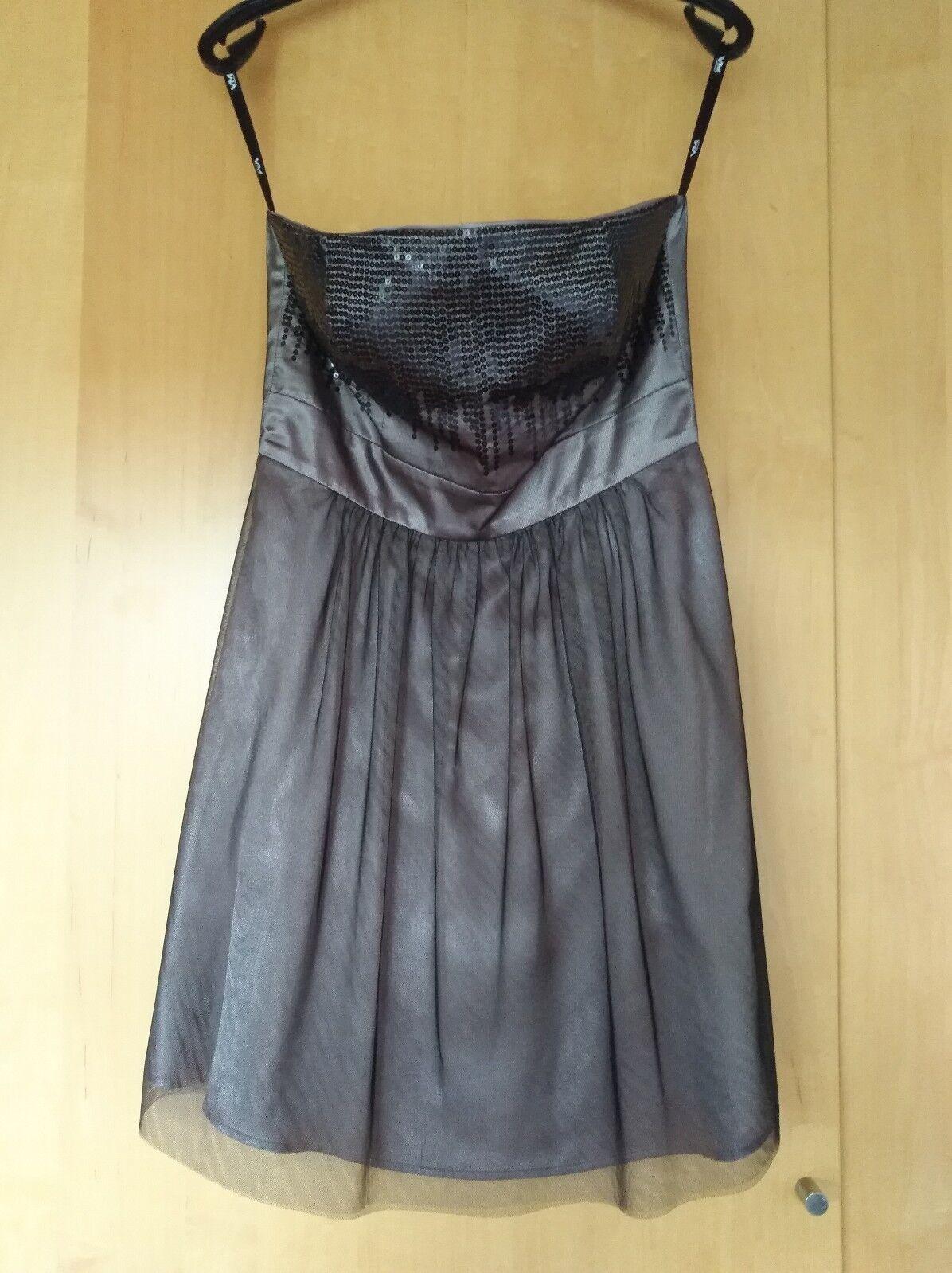 Kleid mit Pailetten lila fliederfarben Größe 36