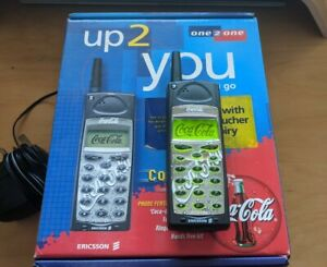 Coca Cola Vintage Mobile Phone Sony Ericsson A1018S with box, charger, documents