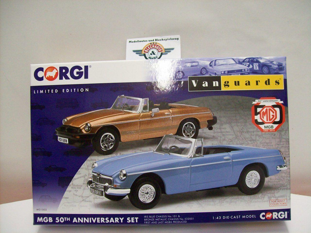 MGB  50th Anniversary  Set 1962 - 2012, Vanguards 1 43 OVP