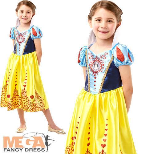 Blanche Neige Princesse Robe FANTAISIE Fille Disney Conte De Fées Livre Jour Kids Costume