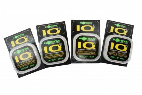 Extra doux Korda IQ2 Fluorocarbone Hooklink * NOUVEAU * LIVRAISON GRATUITE
