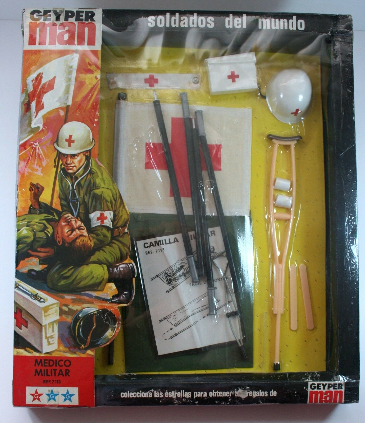GEYPERMAN ORIGINAL 1980 EQUIPO MEDICO MILITAR action man gi joe madelman NEW