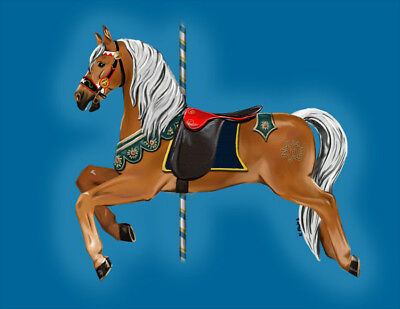Traditional Elisa ~ Haflinger Carousel Horse print 7X10