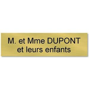 plaque etiquette autocollante boite aux lettres personnalis e 93x25 or et noir ebay. Black Bedroom Furniture Sets. Home Design Ideas