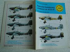 """JUNKERS Ju 87D-H  W.Baczkowski  Fachzeitschrift  TBiU """"Typy Broni i Uzbrojenia"""""""