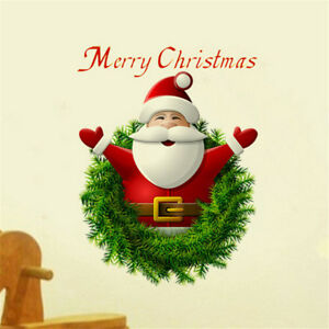 Christmas Wall Decals Removable.Details About Santa Claus Christmas Wall Stickers Wall Decal Removable Art Window Wall Decor