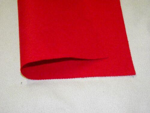 CHERRY RED Acrylic Felt Baize Craft//Poker Fabric Material