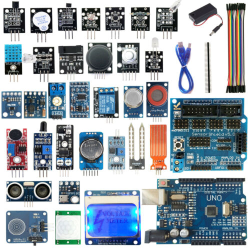 Free Case 30 Sensor Module Kit with UNO Board /& 5110 LCD Display for Arduino