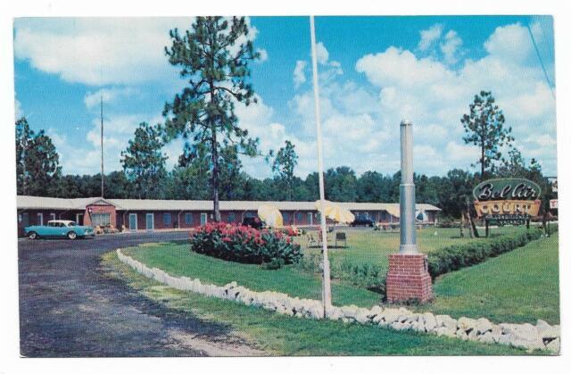 Vintage Georgia Chrome Postcard Bel Air Court South of Waycross Motel