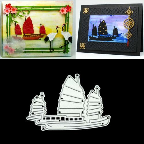 Small Boat DIY Metal Cutting Dies Stencil Scrapbooking Photo Album Stamp Crafts
