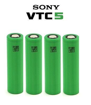 4 X Genuine Sony Vtc5 18650 2600mah Battery Rechargeable High Drain 4 Vape Elegant Im Stil